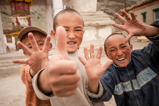 Happy kids of Rangdum, Zanskar, India