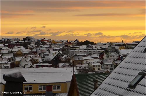 snow sunrise faroeislands kavi sne faroes tórshavn føroyar solopgang sólarris maritagulklett panasoniclumixdmcfz150