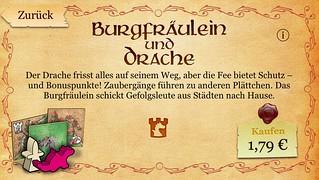 Carcassonne (für iOS): Burgfräulein und Drache