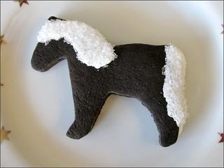 Horse chocolate sugar cookie