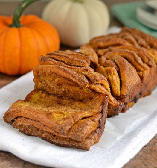 Pumpkin-Pull-Apart-Bread