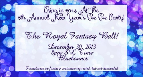 The 5th Annual New Year's Eve Eve Party!!