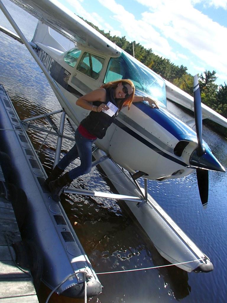 Melanie with plane