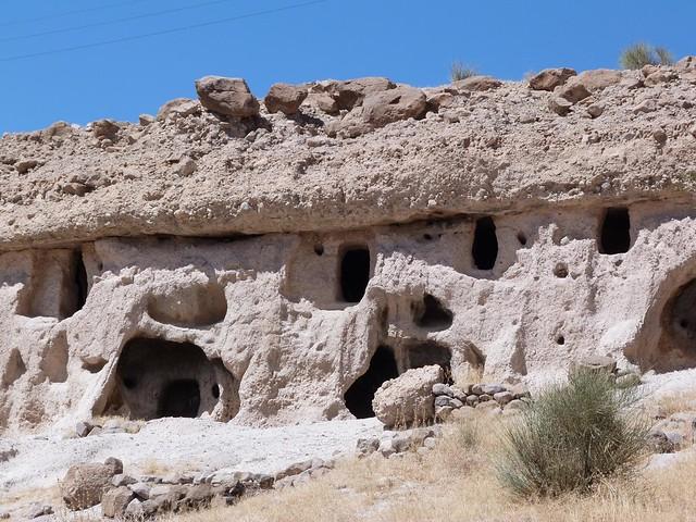 Foto de la aldea troglodita de Meymand (Irán)