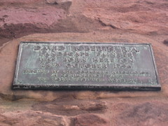 Photo of David Roberts bronze plaque
