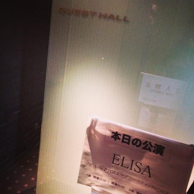 ELISAさんのライブに来ました。どんなんだろう...ドキドキ