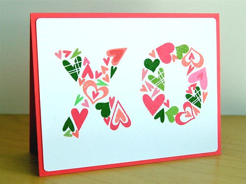 Paper Smooches XO card
