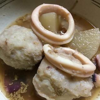 イカと小芋の炊いたん ワタ入り #dinner 美味しく出来た