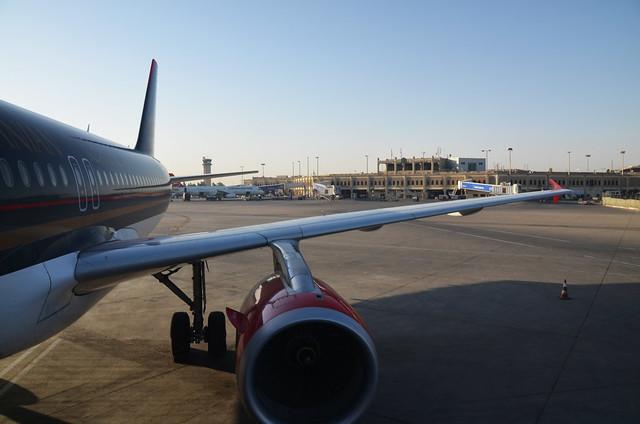 Aviones en un aeropuerto de Jordania