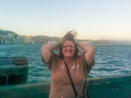 So much for a classy photo of me by the bay in Wellington.