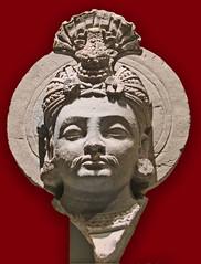 Tête de Bodhisattva (musée d'art asiatique de Dahlem, Berlin)
