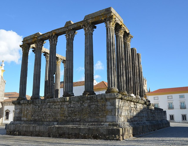 The Roman Temple of Évora, overview from the north-western corner, Ebora Liberalitas Julia, Lusitania, Portugal