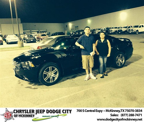 Thank you to Elva  Macias-Descosta on your new 2011 #Dodge #Charger from Dale Graham  and everyone at Dodge City of McKinney! #NewCar by Dodge City McKinney Texas