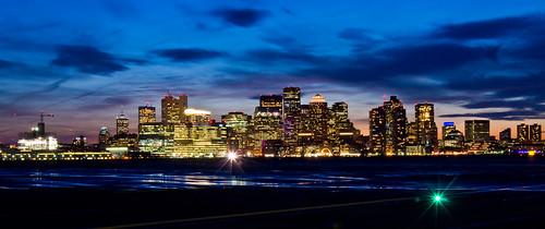Bright lights BIG City Boston,Ma @ Sunset