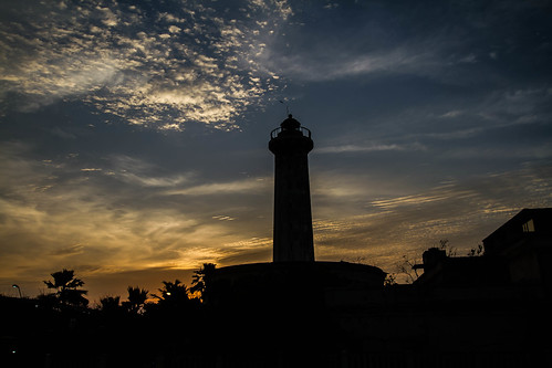 sunset lighthouse day beachfront pondycherry puducherry pwpartlycloudy