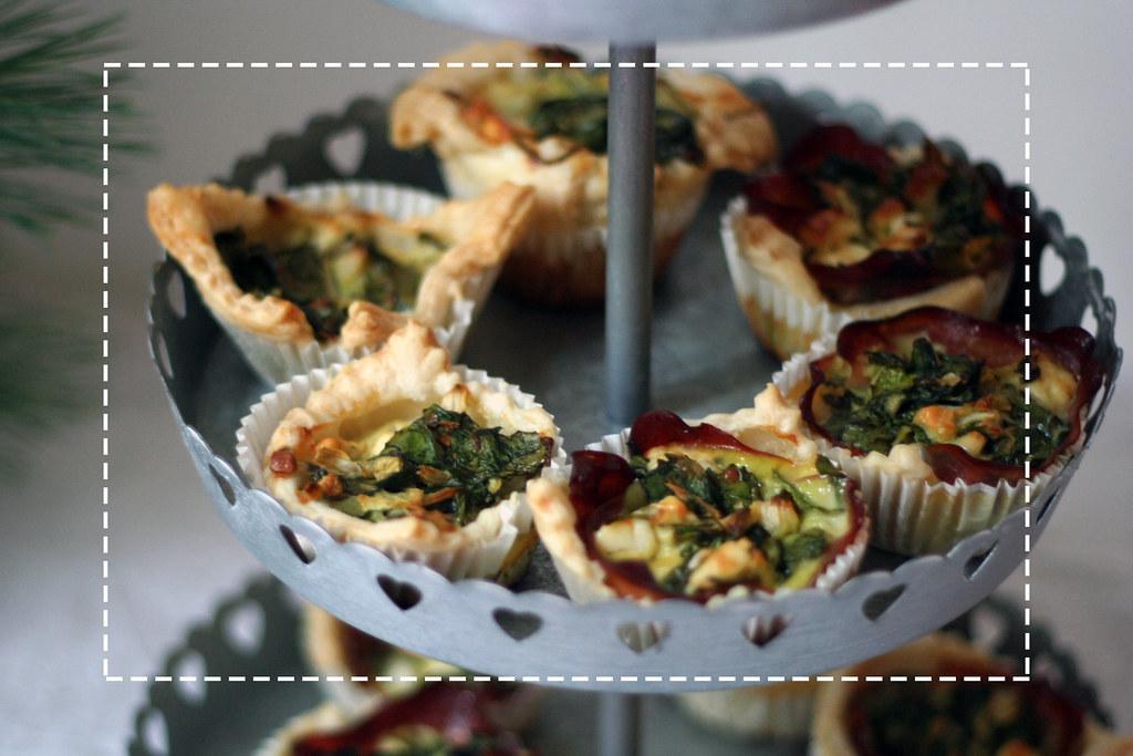 oscar-buffet 2014: blätterteig-muffins mit jungem spinat