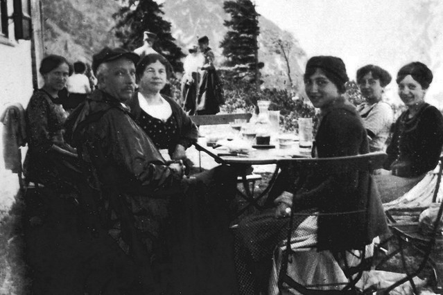 Richard Strauss and his family in Garmisch, c. 1940. Author Unknown
