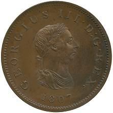 1807 Bahamas penny obverse