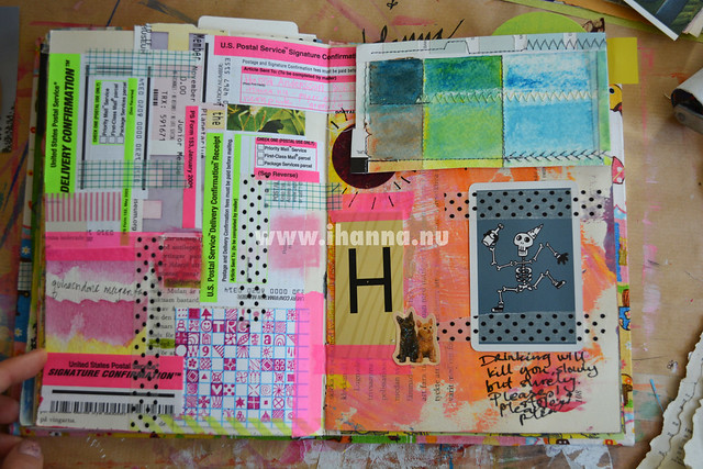 Art journal spread: Stuff from Tammy