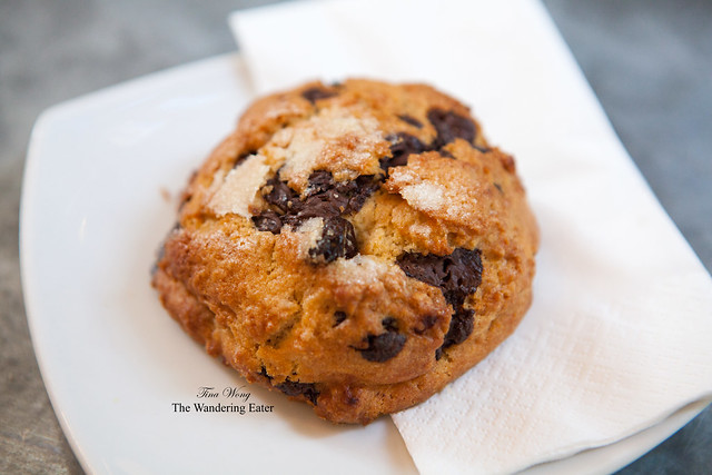 Chocolate raspberry scone