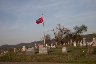 "The ""Stars and Bars"" fly over the dead"