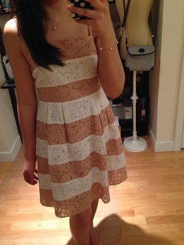 LOFT Eyelet Stripe dress