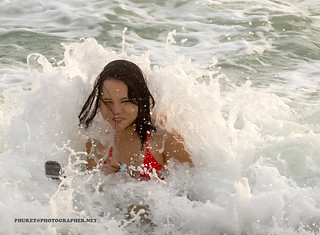 Girl in the spray of waves              IMG_0151s-new