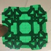 Shamrock tessellation against the light
