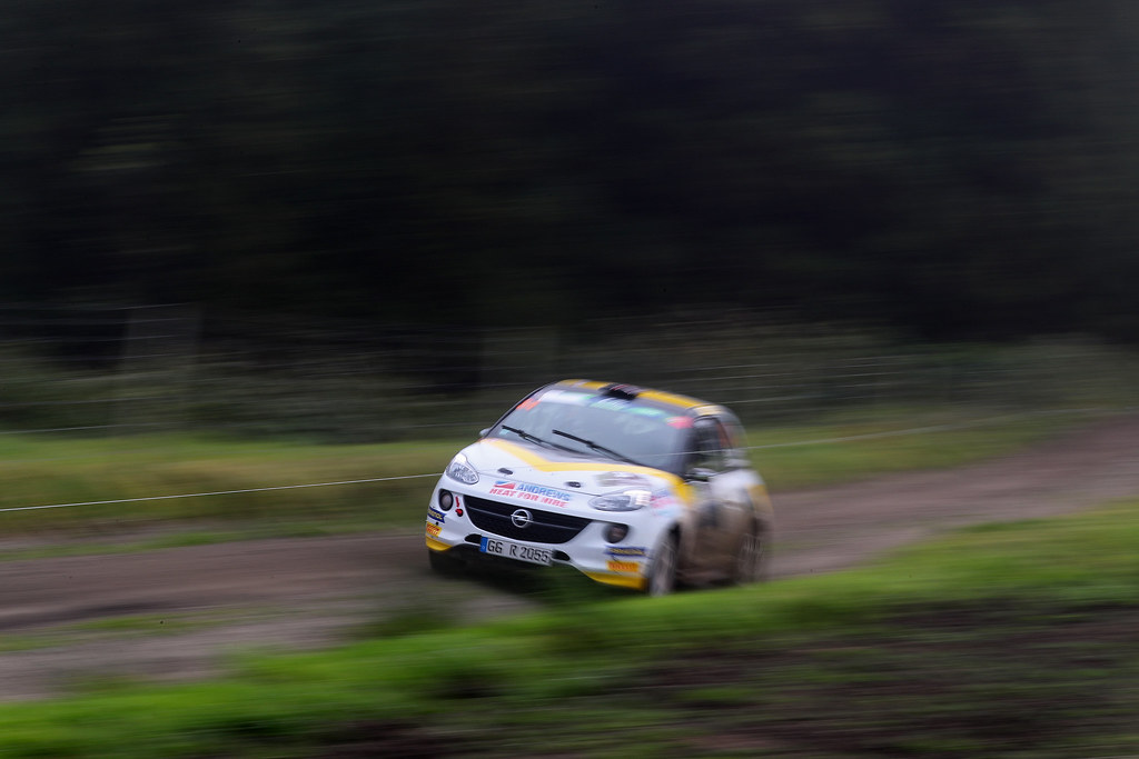 34 INGRAM Chris EDMONDSON Elliot Opel Adam R2 Action during the 2017 European Rally Championship ERC Azores rally,  from March 30  to April 1, at Ponta Delgada Portugal - Photo Gregory Lenormand / DPPI