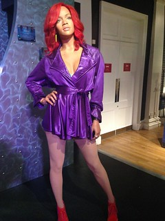 Rihanna figure at Madame Tussauds London