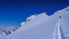 Ostatnie 100m przed szczytem Gran Paradiso 4061m