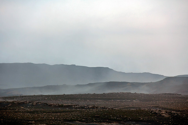 Sandstorm on the Fimvörðuháls trail, Iceland