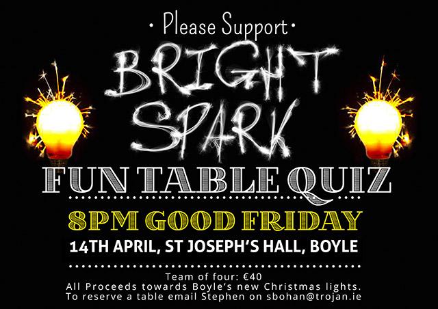 Bright Spark Table Quiz