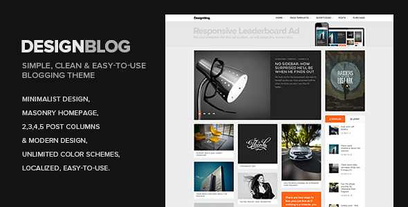 Design Blog WordPress Theme free download