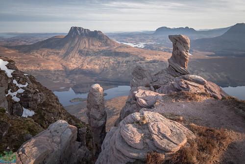 assynt coigach lochlurgainn march pinnacle scotland sgorrtuath stacpolliadh stacpolly sunrise wild wildcamp wildcamping