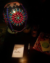 Remember to Breathe.  Art desk lamp made by my husband and me from a gourd and glass beads.    . . . #love #instagood #photooftheday #instamood #picoftheday #explore #beautiful #instadaily #igglobalclub #ig_creativephotgraphy #maryland #justgoshoot #archl