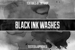 Black ink washes