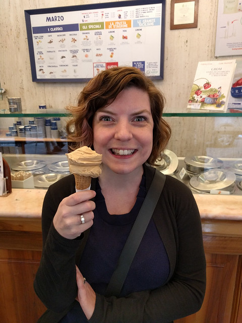 salted caramel gelato @ GROM