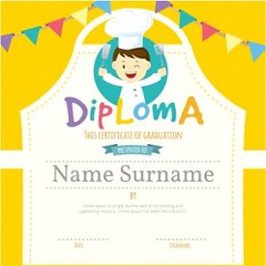free vector Kids Diploma certificate templates