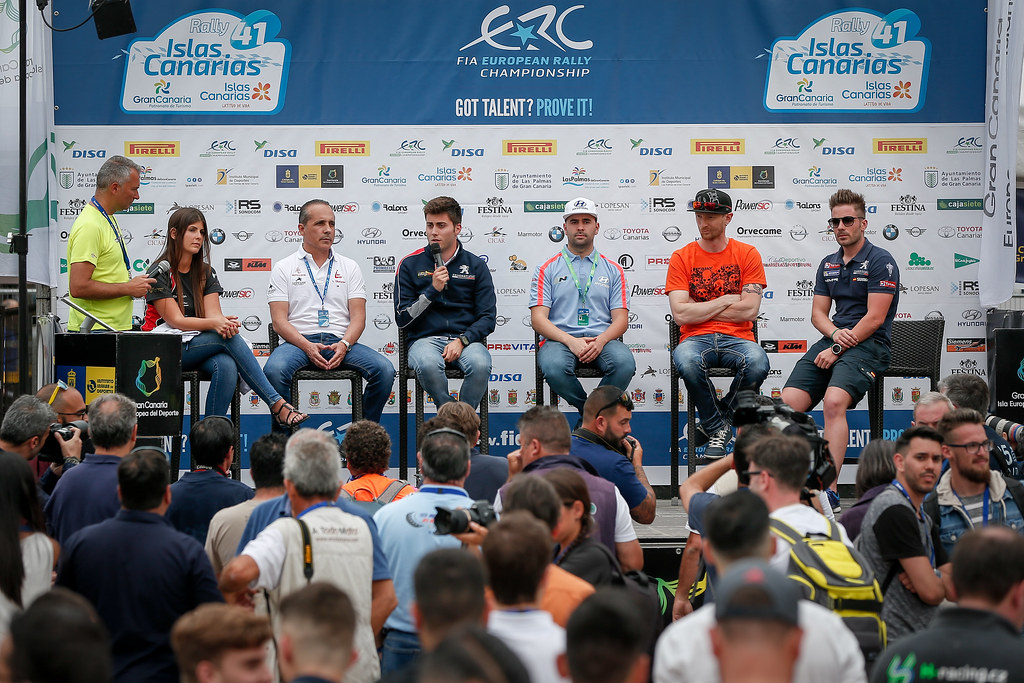 pre-event press conference during the 2017 European Rally Championship ERC Rally Islas Canarias, El Corte Inglés,  from May 4 to 6, at Las Palmas, Spain - Photo Alexandre Guillaumot / DPPI