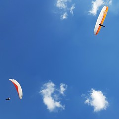 Paragliders in Tsjechië