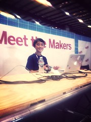 It's one of my fave peeps @QTechknow at @makerfaire