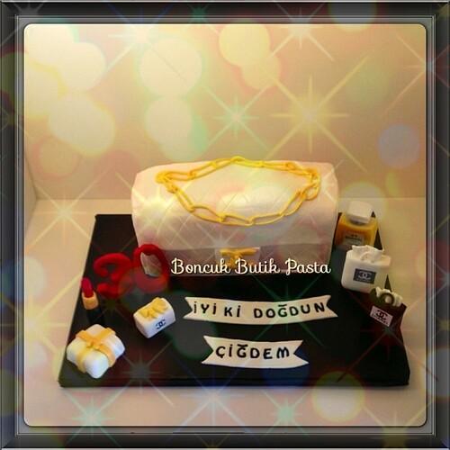 #chanel#chanelhandbag#chanelcake#cake#3dcake#boncukbutikpasta