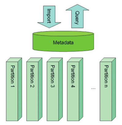 Figure 1. Metadata Layer Indexes Fully Populated Data Partitions