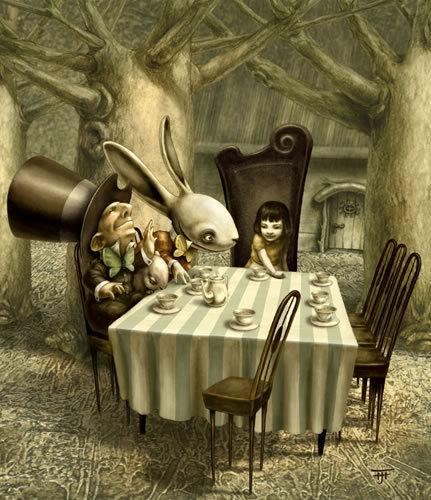Alice in the wonderland (imagem tirada da internet sem identificação))