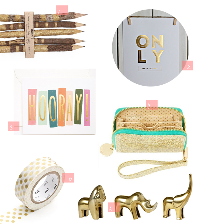 Gold Office Accesories