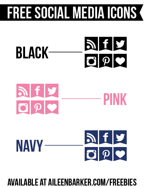 free-social-media-icons-black-pink-blue-navy