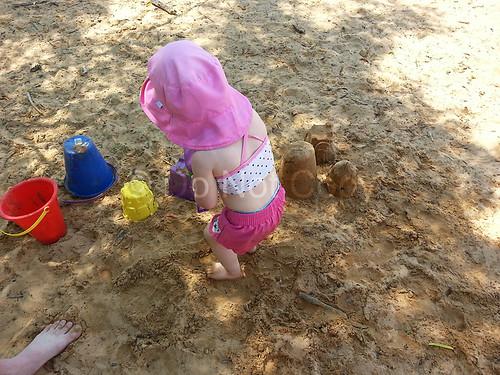 Rowan making sand castles