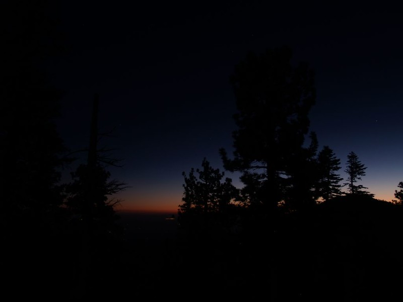 Dawn's first light from our camp on the west ridge of Mount Islip