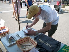 NKY members tabling at Roebling Fest 2013. Photo taken by organizer. Please credit Kentuckians For The Commonwealth.